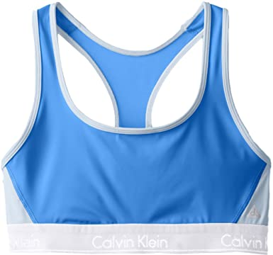 af5dff95a20c5 Calvin Klein Women s Flex Motion Medium Impact Racerback Sports Bra ...
