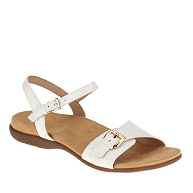 Alita Womens Ankle Strap Sandal White - 7 Wide