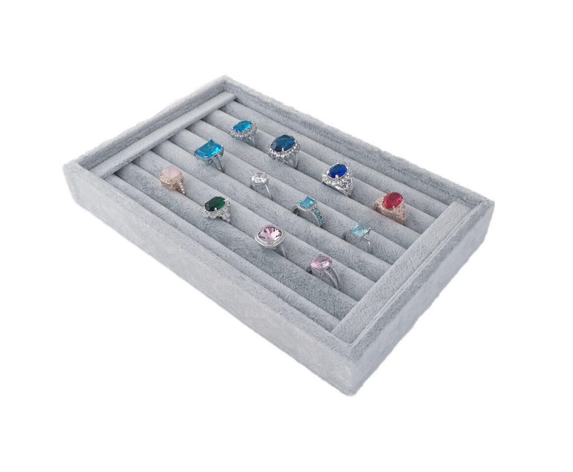 Svea Display Ring Organizer Holder Stroage Extra Soft Velvet Premium Quality Stackable Home Closet Jewelry Organization
