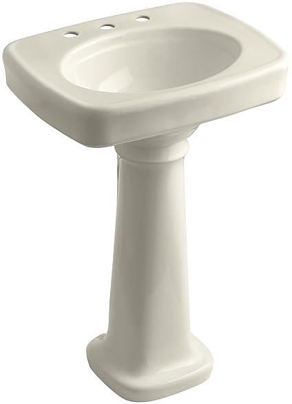 KOHLER K 2338 8 47 Bancroft Pedestal Bathroom Sink With Centers For 8u0026quot