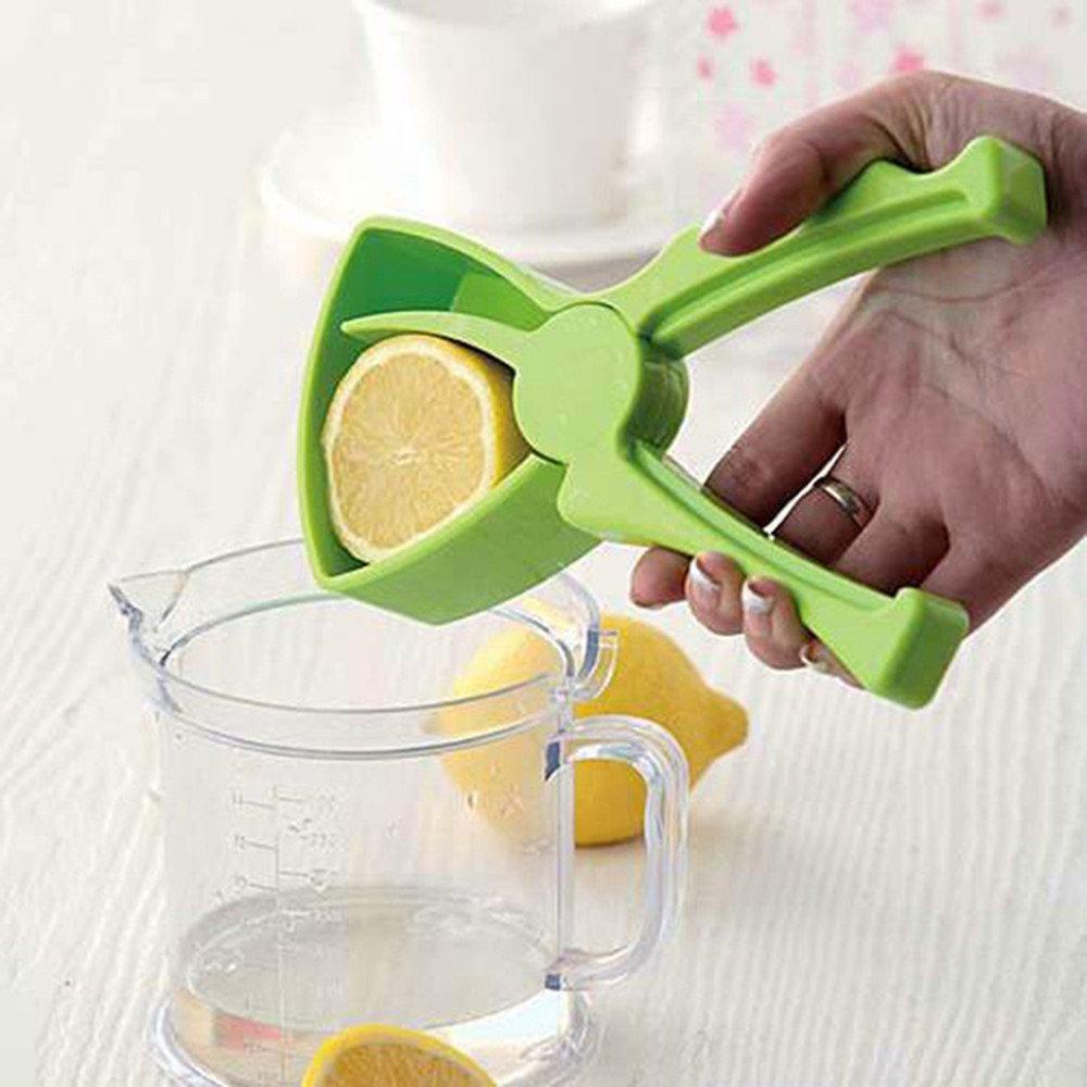 Lemon Squeezer Portable Manual Citrus Press Juicer Squeezer Professional Kitchen Tool (Green)