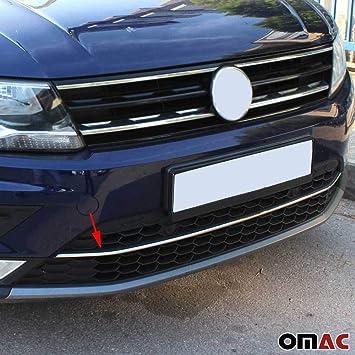 VW Tiguan II 2 2016Up Chrome Rear Bumper Protector Scratch Guard S.Steel