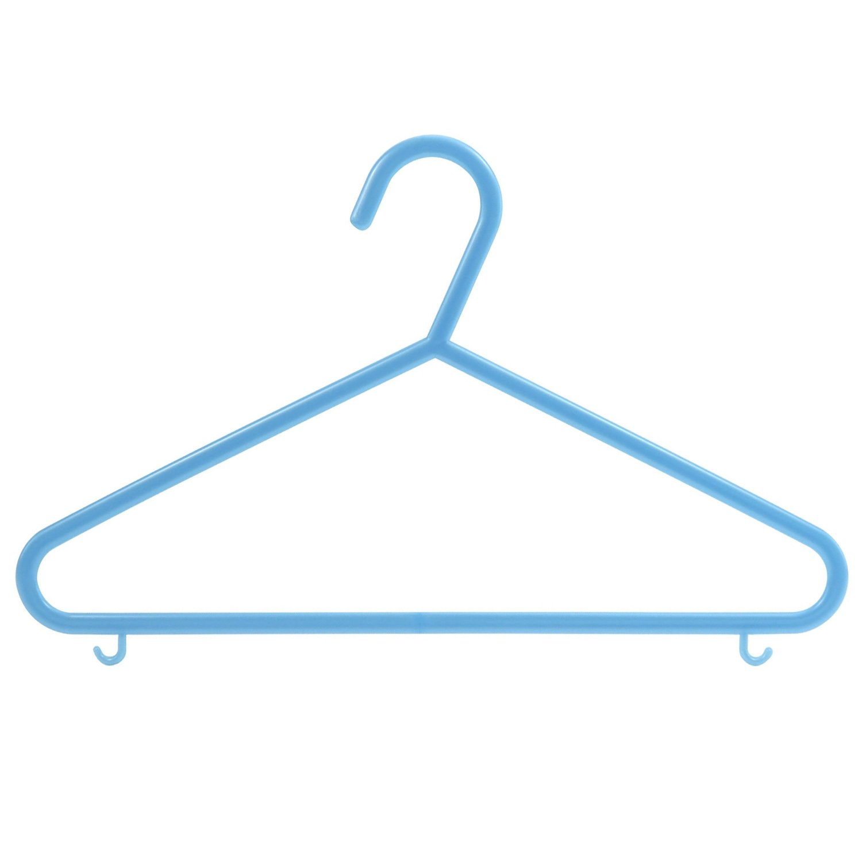 HANGERWORLD 18 Blue 11.8inch Plastic Kids Coat Clothes Garment Pants Skirt Bar Baby Toddler Hangers