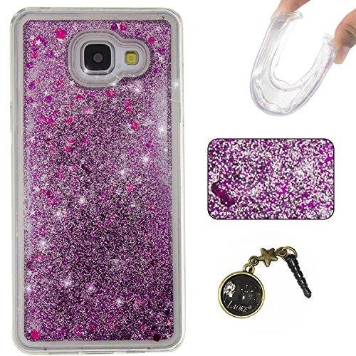 Funda para Samsung Galaxy A5(6) SM-A510F2016, 3D fluido líquido, arenas movedizas estrella brillante lujo brillo purpurina cristal multicolor de amor diseño satisfacción bolsa funda para Samsung Gal 13