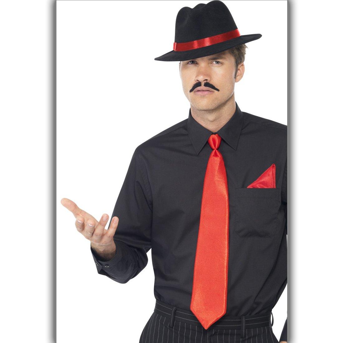 NET TOYS Conjunto de Disfraces Al Capone | con Sombrero, Corbata y ...