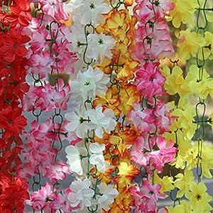 C&C Products 2m Artificial Silk Azalea Flowers Vine Plants Garland Wedding Home Decor 66