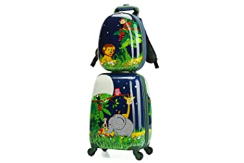 Amazon.com: WCK Cartoon - Maleta de viaje para niños: HQY