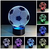 Optical Illusion 3D Lighting Nightlight Glow for Kids Laser Cut Precision LED Lights Multicolored USB Powered Light Desk Lamps Yoga, Office, Spa, Bedroom,Baby Room