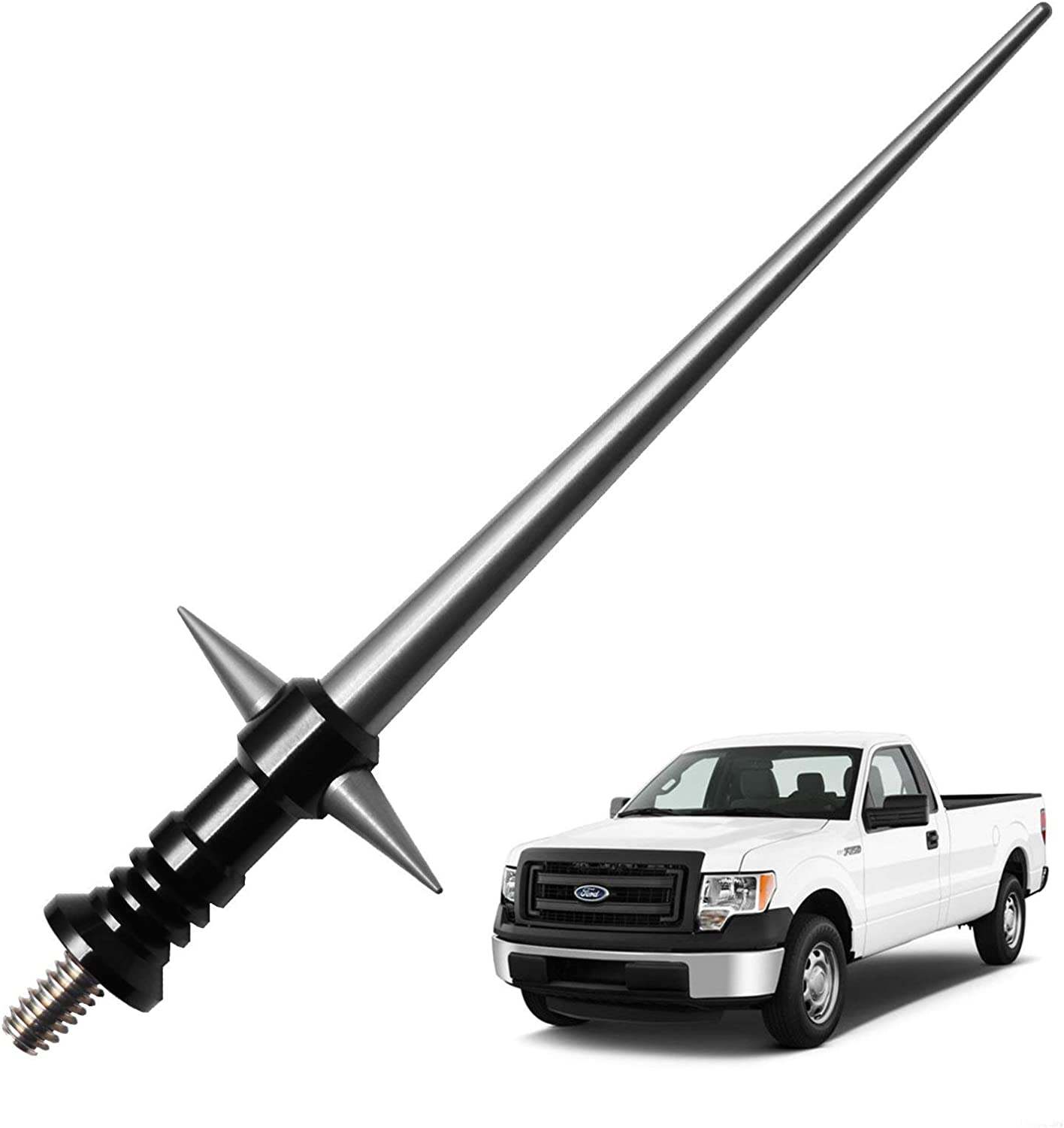 Black 5.25 inches JAPower Replacement Antenna Compatible with GMC Sierra//Yukon//Denali Trucks 2007-Current