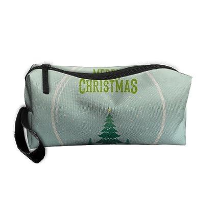 b8fd0dfbccf2 Amazon.com: Kla Ju Portable Pencil Bag Purse Pouch Christmas Snow ...
