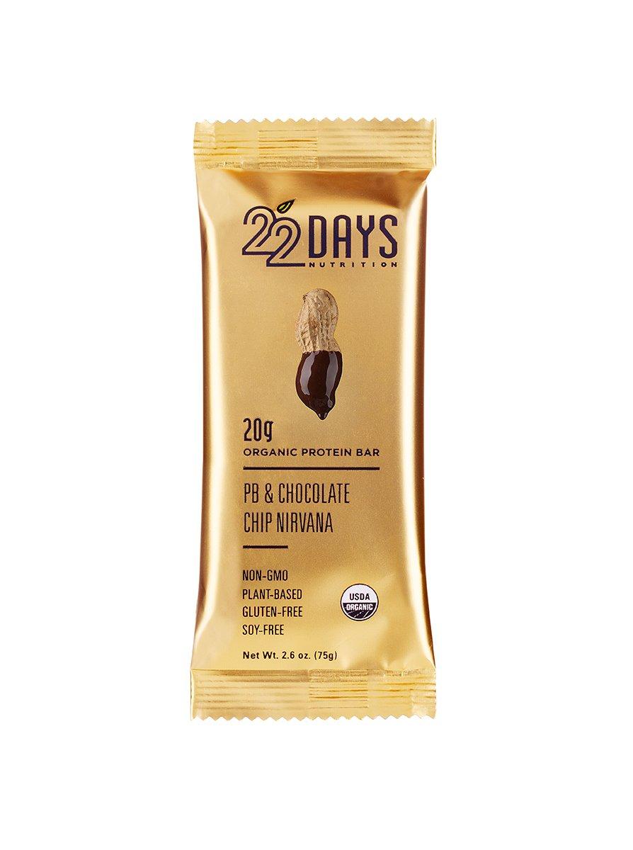 amazon com 22 days nutrition organic protein bar pb