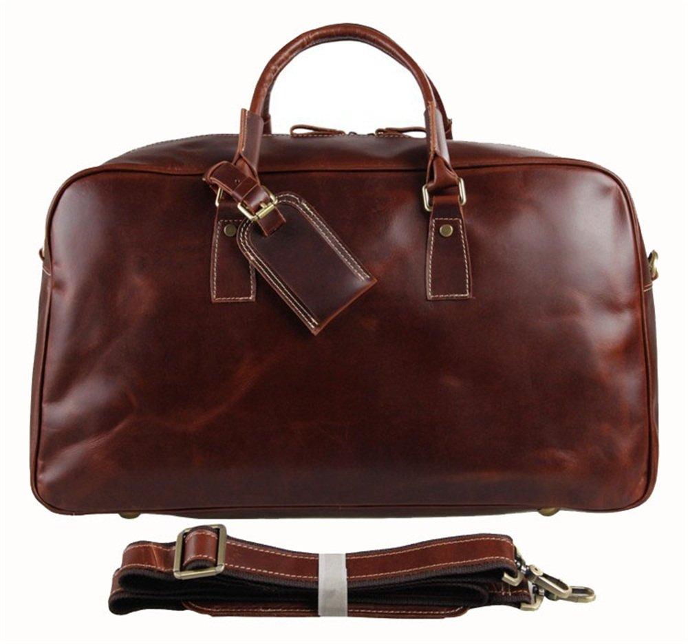 Luggage Bag Glossy Oily Bag FLYSXP Travel Bag Big Handbag Retro Style 51x21x31cm Luggage Bags