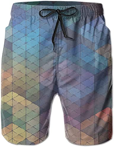 Tydo Blue Pattern Mens Beach Shorts Classic Swim Trunks Surf Board Pants With Pockets For Men