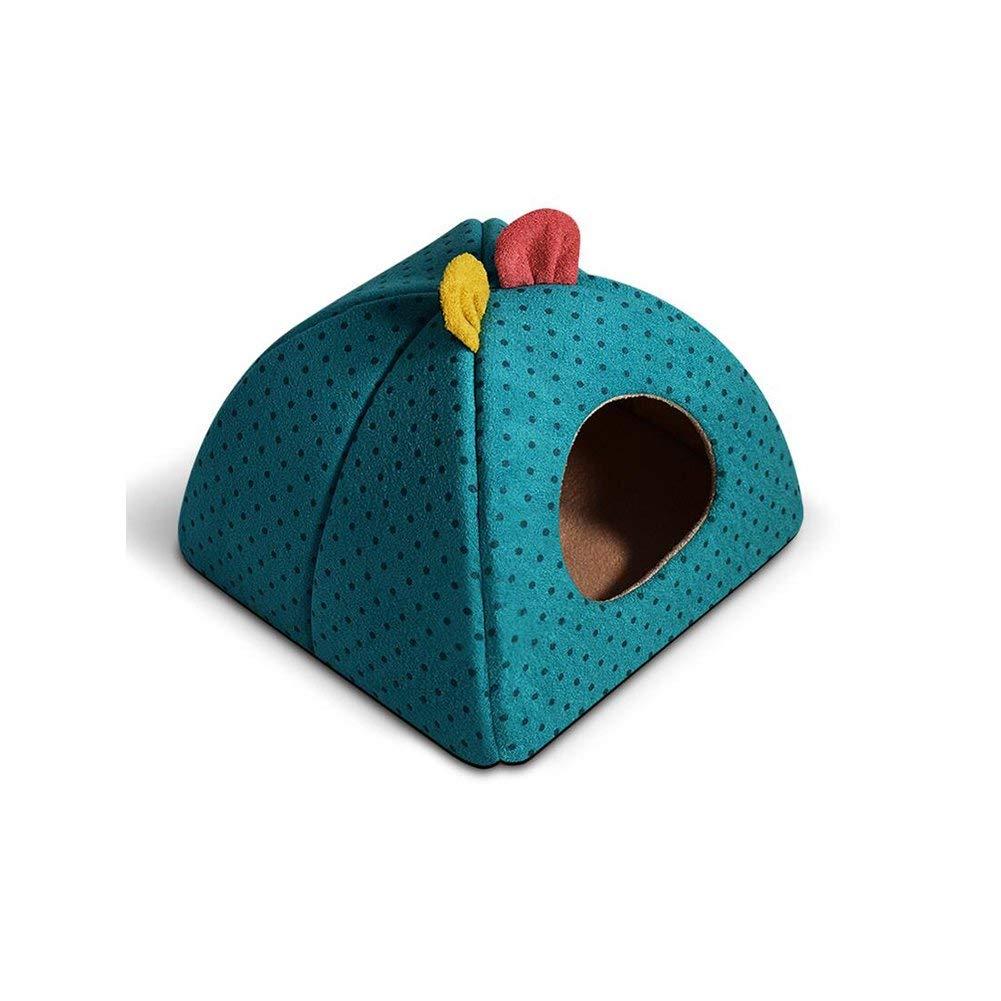 blu Bridge Casa del Cane, Letti FS-518 Moda Carino Gatti e Canili Pet Bed Yurta Quattro Stagioni Universale Confortevole e Durevole Protezione Ambientale (colore  Blu, Taglia  M)