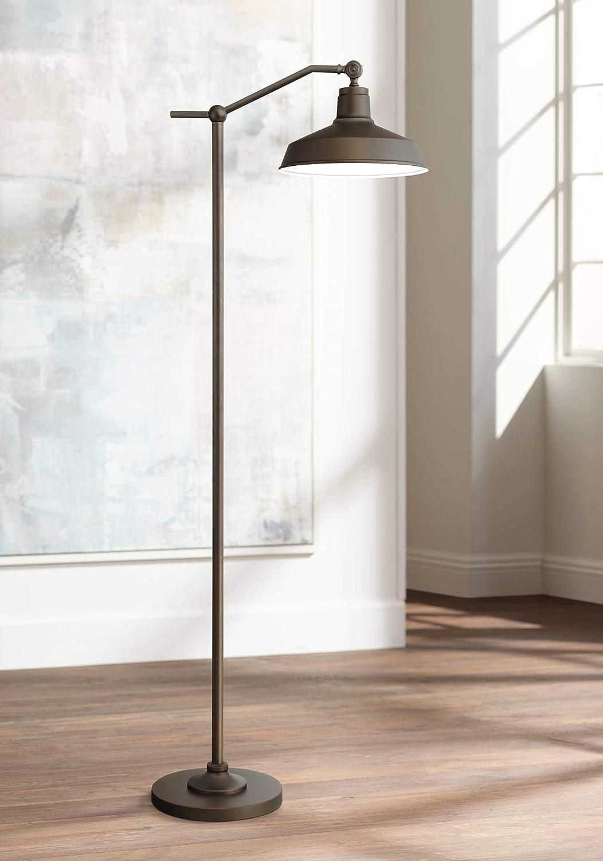Kayne Modern Contemporary Farmhouse Downbridge Style Task Floor Lamp Satin Bronze Metal Shade Step Switch Bright Lighting For Living Room Reading House Bedroom Home Office Decor 360 Lighting Amazon Com