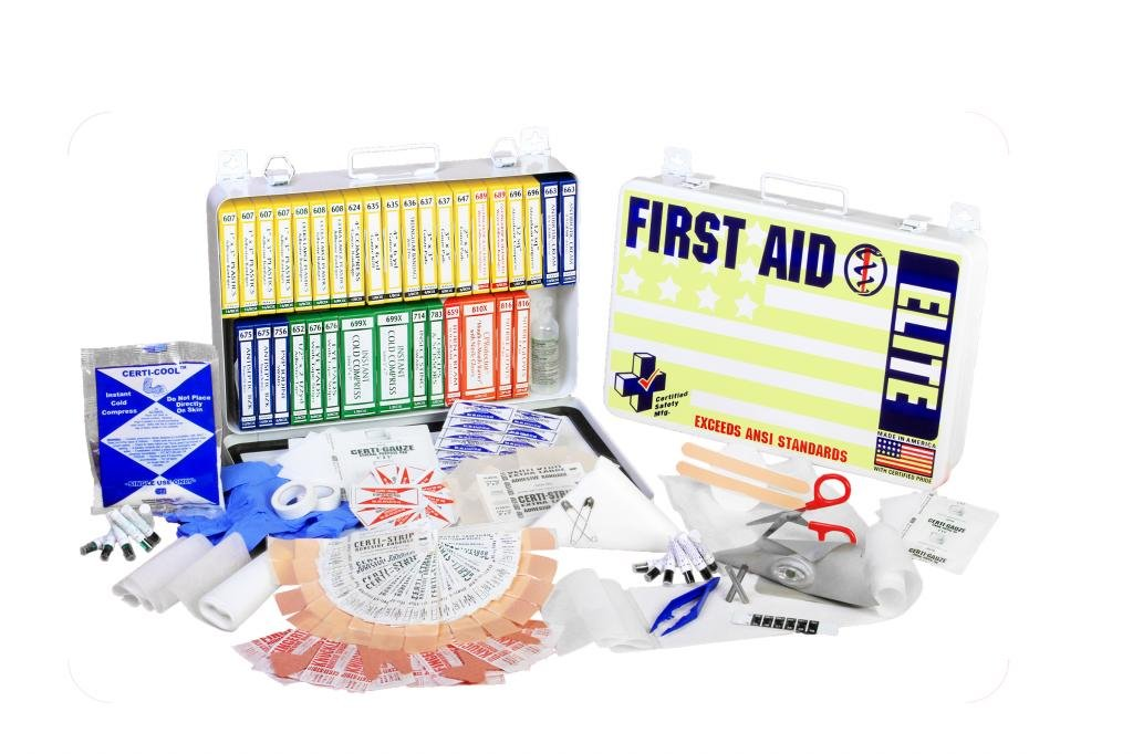 Certified Safety K201-364 36PW ANSI Elite First Aid Kit in Poly White