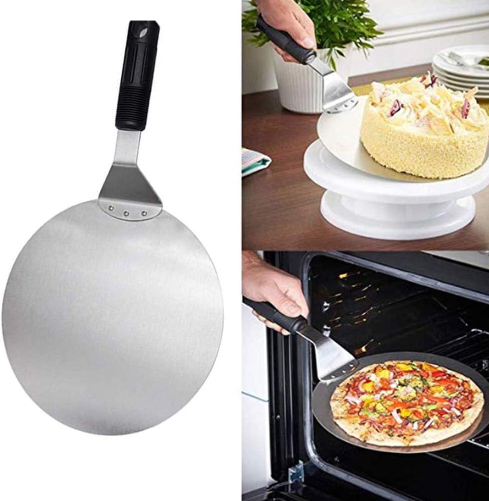 Pala rotonda per pizza per trasferire torte e pane 25,4 cm in acciaio inox