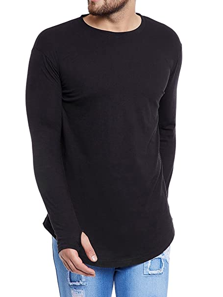 2561a1ca955e4 FUGAZEE Men s Thumbhole T-Shirt  Amazon.in  Clothing   Accessories