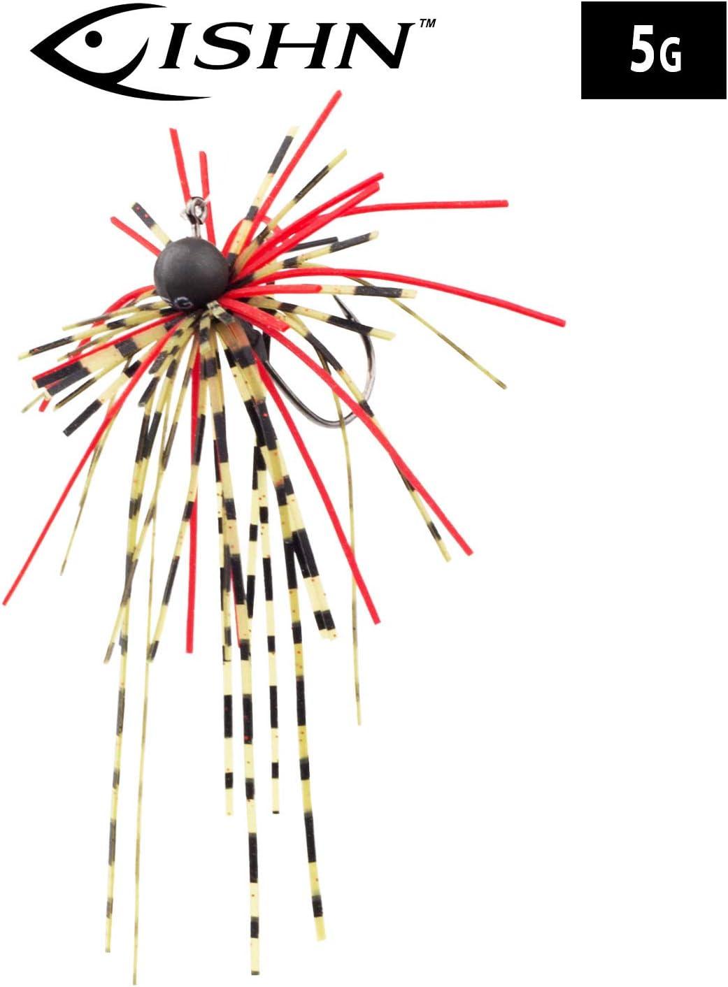 Barsch und Zander Gummik/öder Weedguard Silikonfransen Hecht FISHN/® Dirty Hairy Jig Tungsten scharfer Haken f/ängige Fransen Gewicht: 2,5g//5g Rubber Jigs