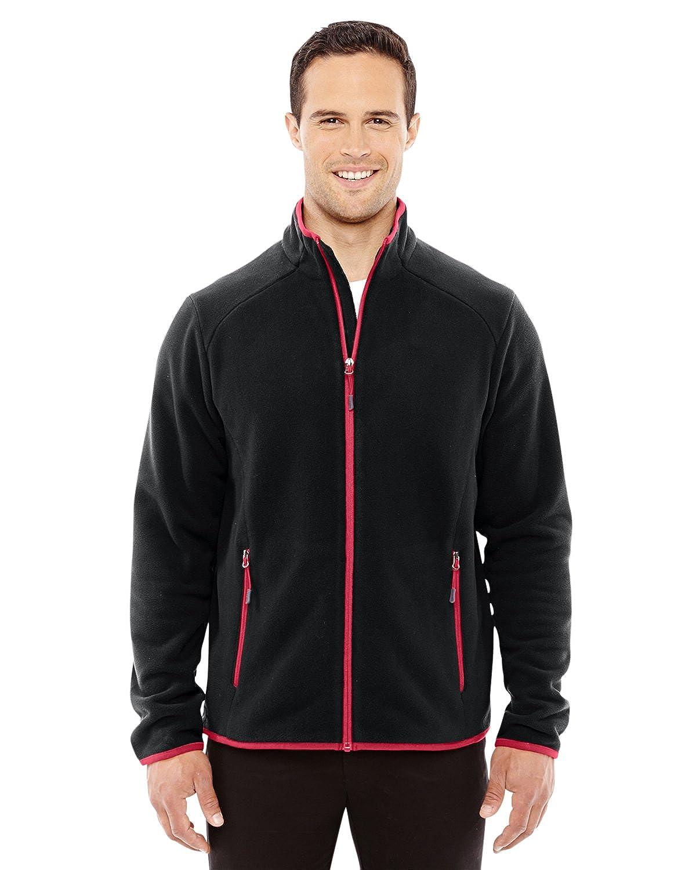 North End Sport Red 88811 Mens Vector Interactive Polartec Fleece Jacket