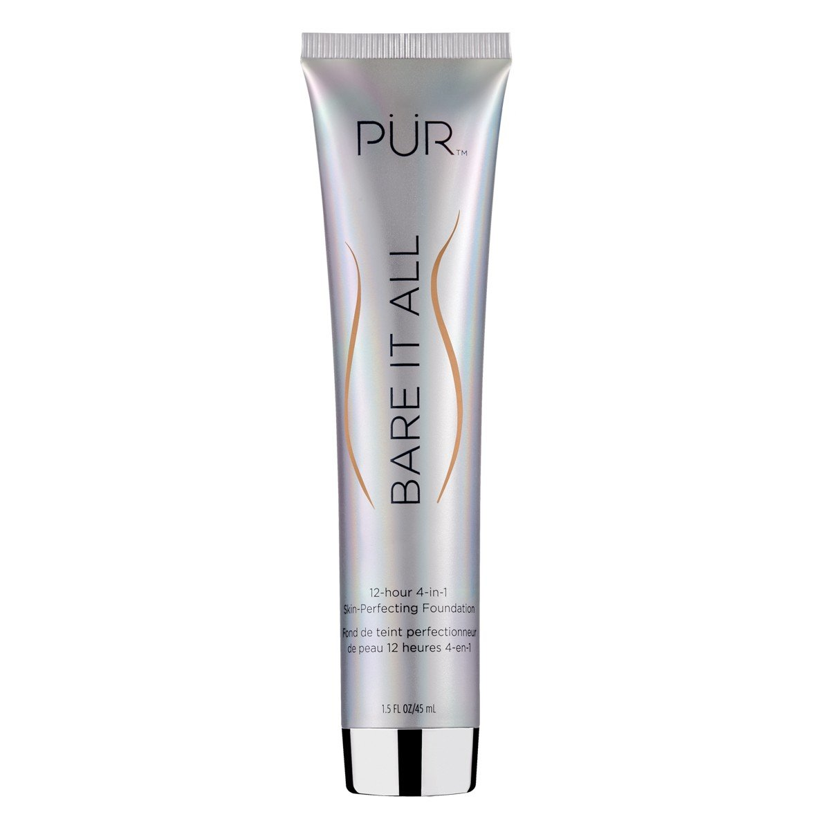 PÜR Bare It All 4-in-1 Skin-Perfecting Foundation Light Tan, 1.5 Fl Oz