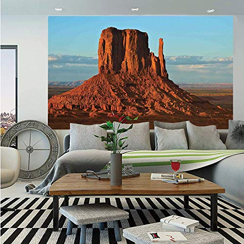 House Decor Wall Mural,Panorama of Popular American Canyon by Process of Long Erosion and Wind Theme,Self-Adhesive Large Wallpaper for Home Decor 83x120 inches,Blue Orange