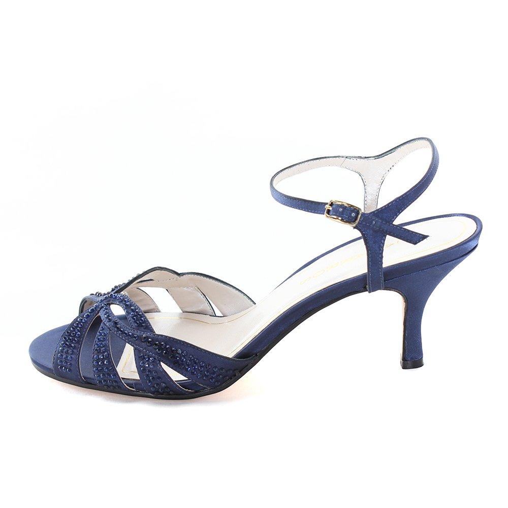 ec3528c242 Amazon.com | Caparros Women's Heirloom Blue Satin 10.5 B US | Heeled Sandals