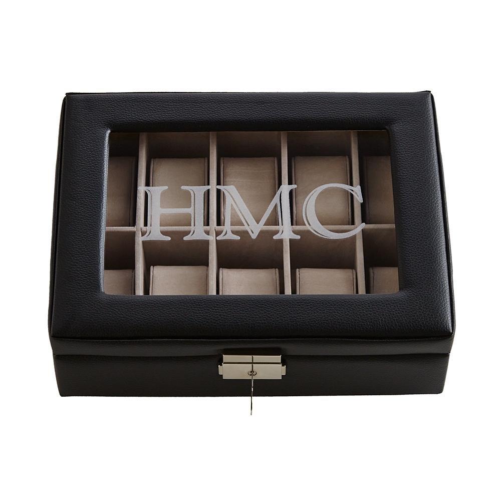 個人Creations – カスタマイズギフトレザー腕時計ボックス ブラック 30021059 B01N0H4Z8Vブラック