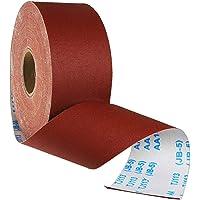 Rollo de papel de lija abrasivo de grano 80, 1 m x 100 mm