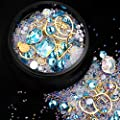 Nail Art Rhinestones Flatback Diamonds Crystals Beads Gems Mixed Colorful for Nail Art Decorations DIY Design