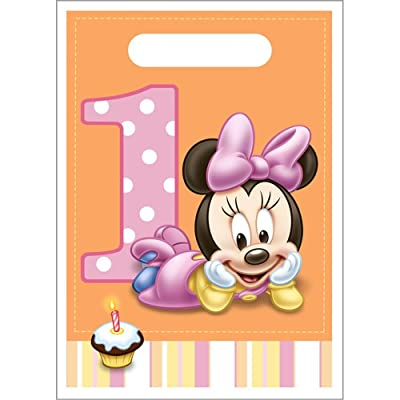 Minnie Mouse 1st Birthday Favor Bags (8ct): Toys & Games