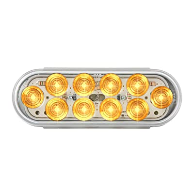 Grand General 77441 Sealed Light (Oval Mega-10 Amber/Clear 10LED), 1 Pack: Automotive