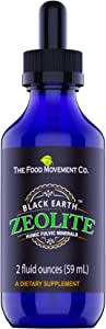 The Food Movement Black Earth Zeolite with Humic Fulvic Acids, Trace Minerals for Body Detox, Gut Health, Immune Support - 2oz Liquid Drops Supplement