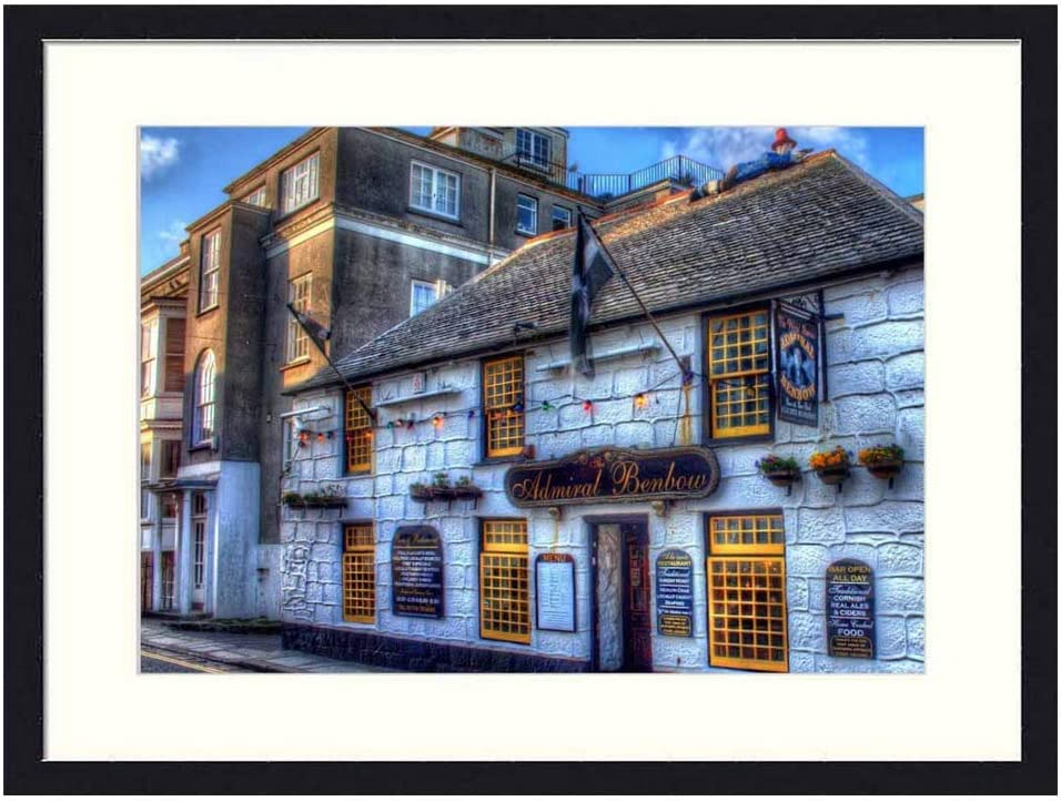 Asommet Admiral benbow Tavern in England HDR - Solid Wood Framed Wall Art Print Picture Home Decor (20x14 inches)