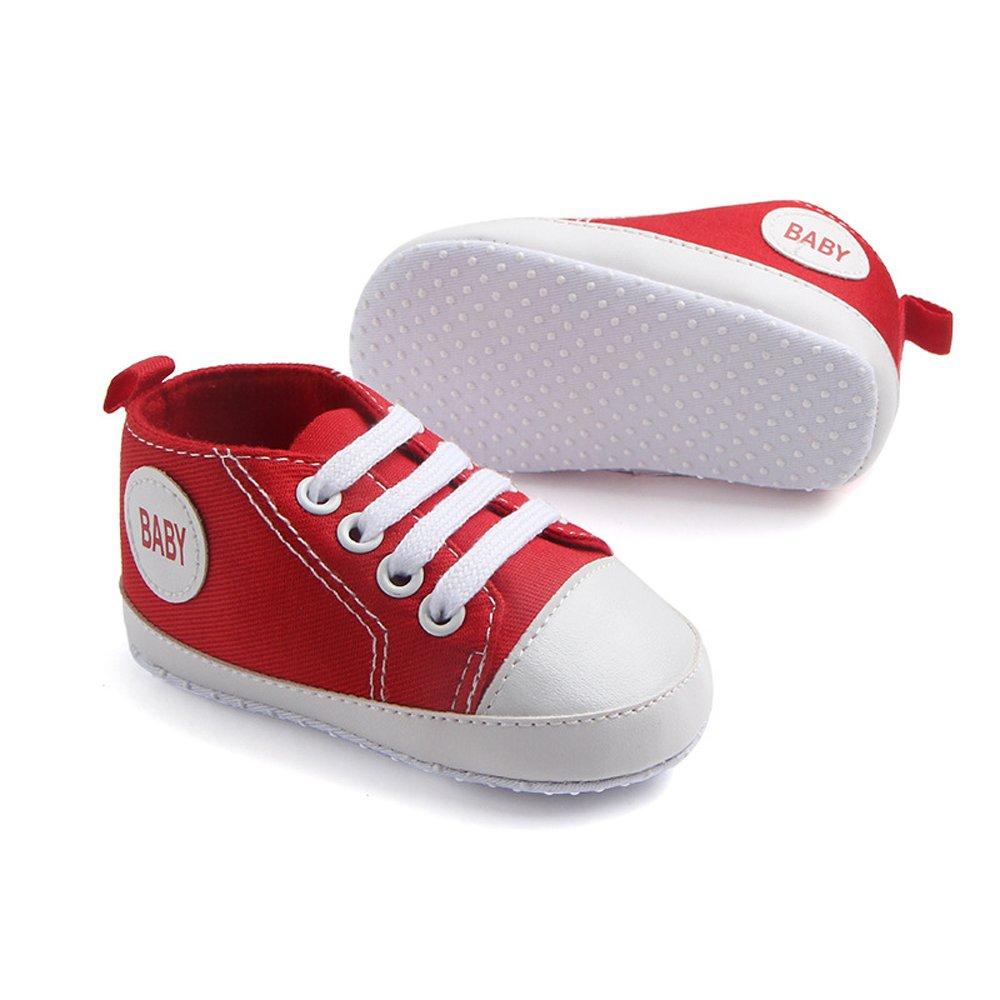 Baby Boys Girls Anti-Slip First Walker Toddler Sneaker Newborn Crib Shoes Antheron Infant Canvas Shoes