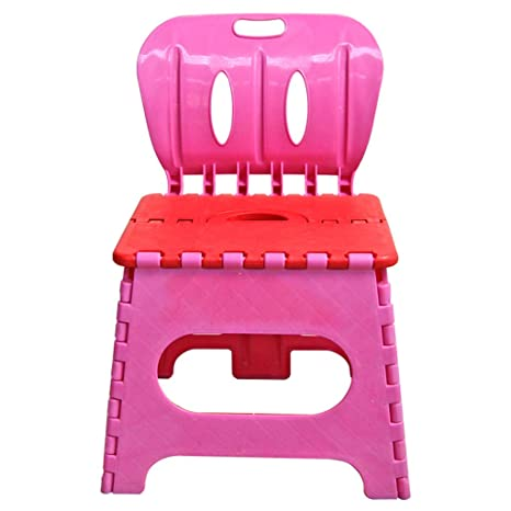 Stupendous Yakercollection Kids Folding Chair Step Stool With Back Pink Gmtry Best Dining Table And Chair Ideas Images Gmtryco