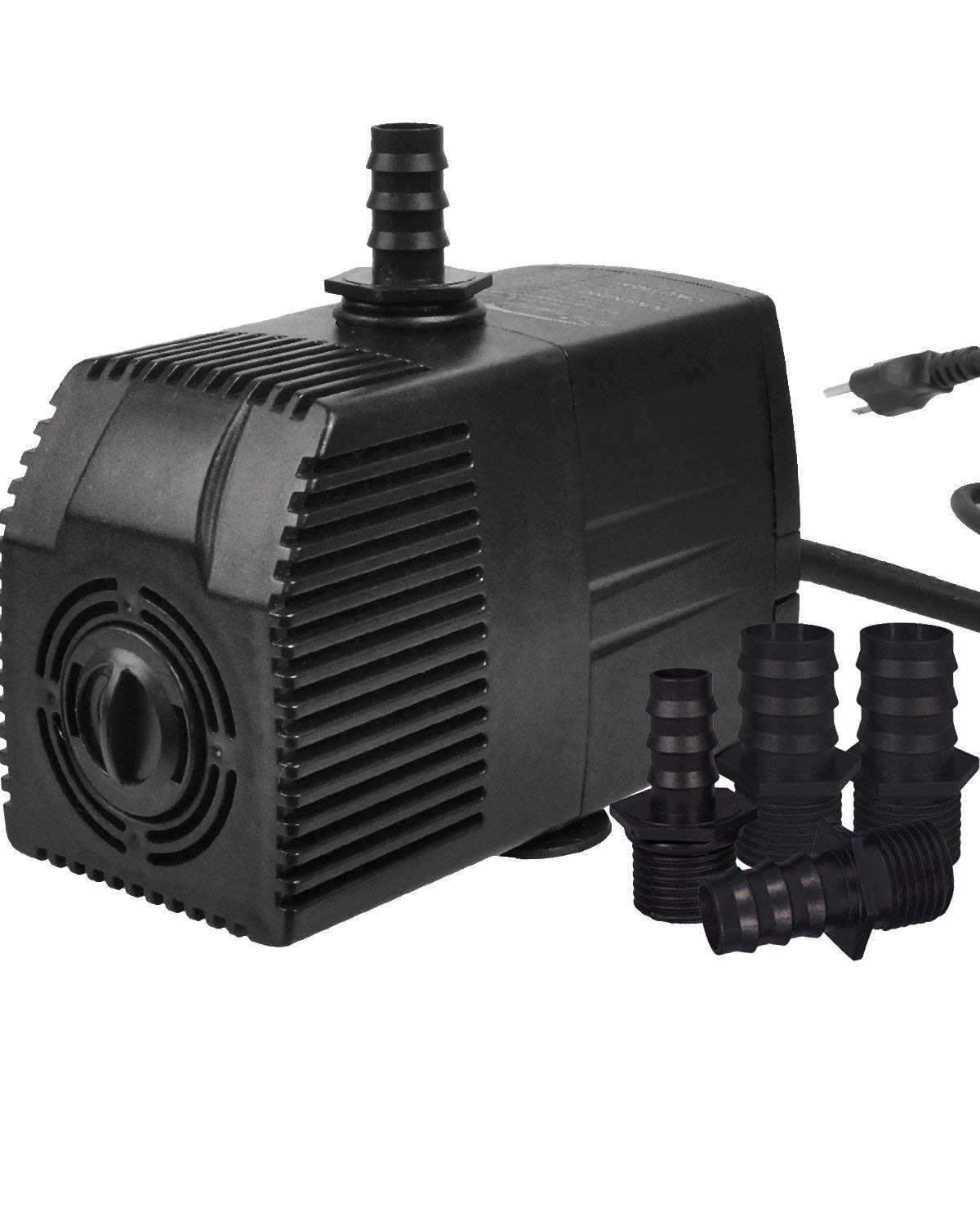 Simple Deluxe 400 GPH UL Listed Submersible Pump with Pre-Filter & 15' Waterproof Cord for Hydroponics, Aquaponics, Fountains, Ponds, Statuary, Aquariums & more (Renewed)