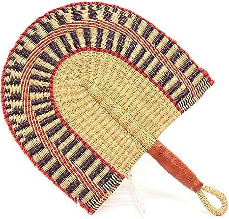 Straw fan handwoven fan African fan