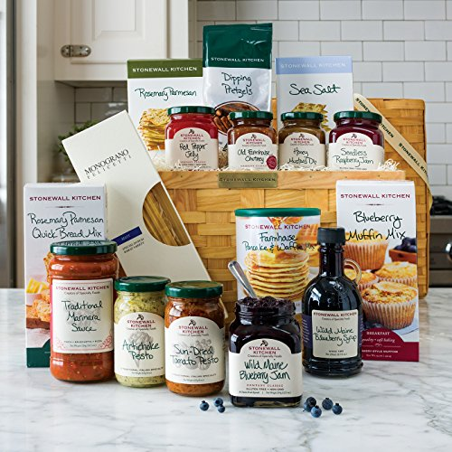 Stonewall Kitchen Delicious Sampler Basket (16 pc Gift Basket) made in New England