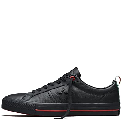 Converse One Star Pro Ox Mens Skateboarding-Shoes 156698C 9 - Black Black  White 89c6e5faa