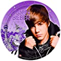 ShindigZ 9 inch Dinner Plates 8-Pack - Justin Bieber