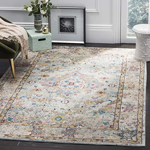 Safavieh Aria Collection ARA183E Area Rug, 10 x 14 , Beige Blue