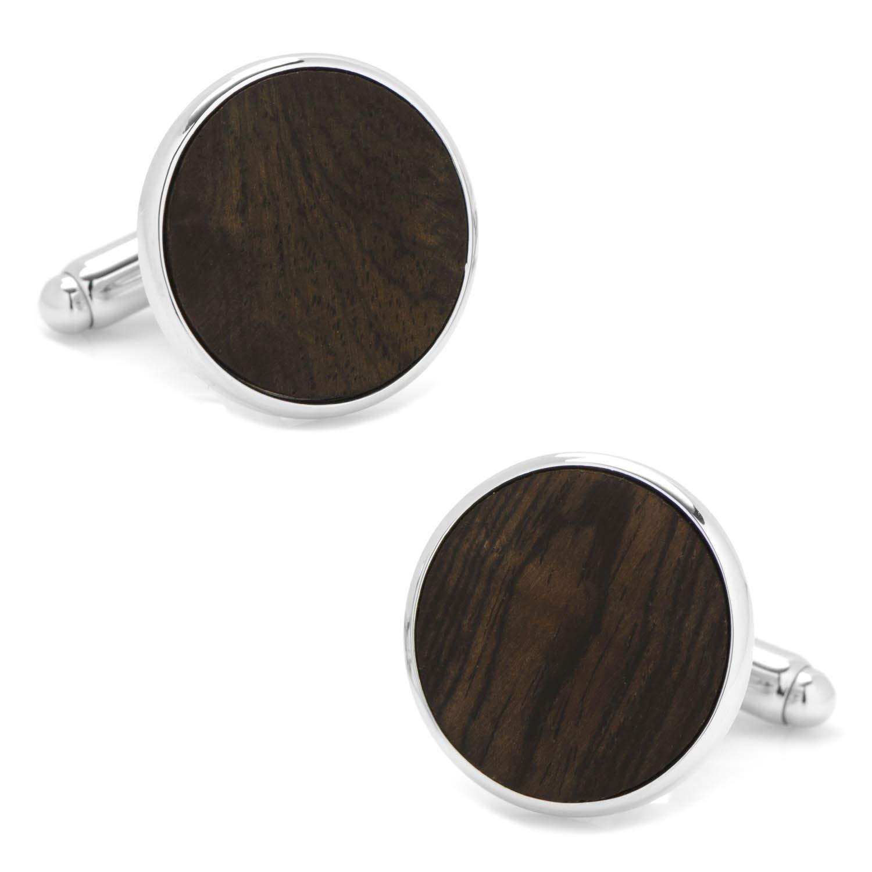 Mens Black Stain Wood Cufflinks Brown One Size Cufflinks Inc