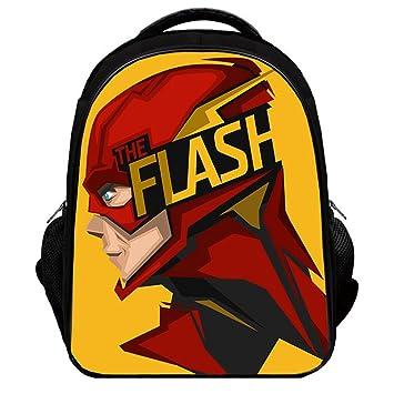 d393bcd9ea4 Amazon.com   YOURNELO Boy s Color Printed The Flash Rucksack School  Backpack Bookbag (Color 11, L)   Kids  Backpacks