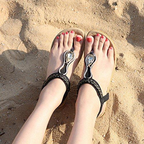 Verano Mujer Zapatilla Fondo Casual Yalanshop Simple el con 1Color Plano de en qX1WwBRf
