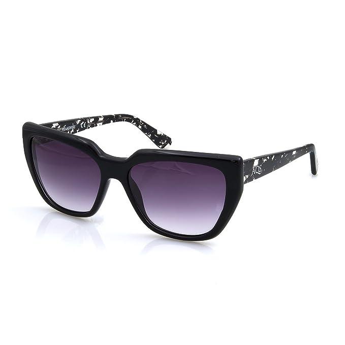 29fe4a9ea4 AQS Stella de la mujer anteojos de sol, Negro: Amazon.com.mx: Ropa ...
