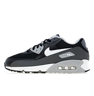 best sneakers 0dc8a 7f347 NIKE Air Max 90 Essentials 537383 032 Black Grey White Trainers for Men