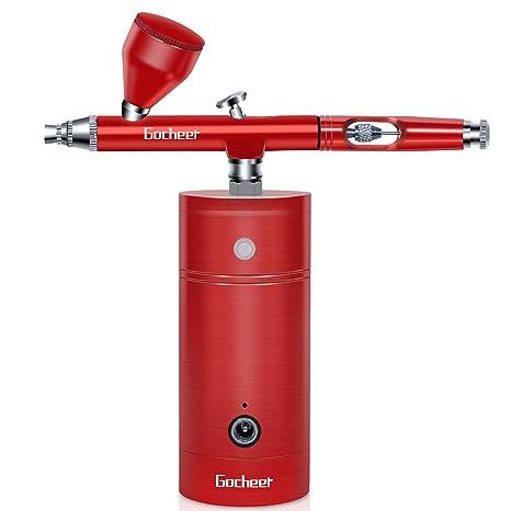 Gocheer aerografo usb charging aerografo con compresor kit profesional modelismo pistola aerografo set for maquillaje,