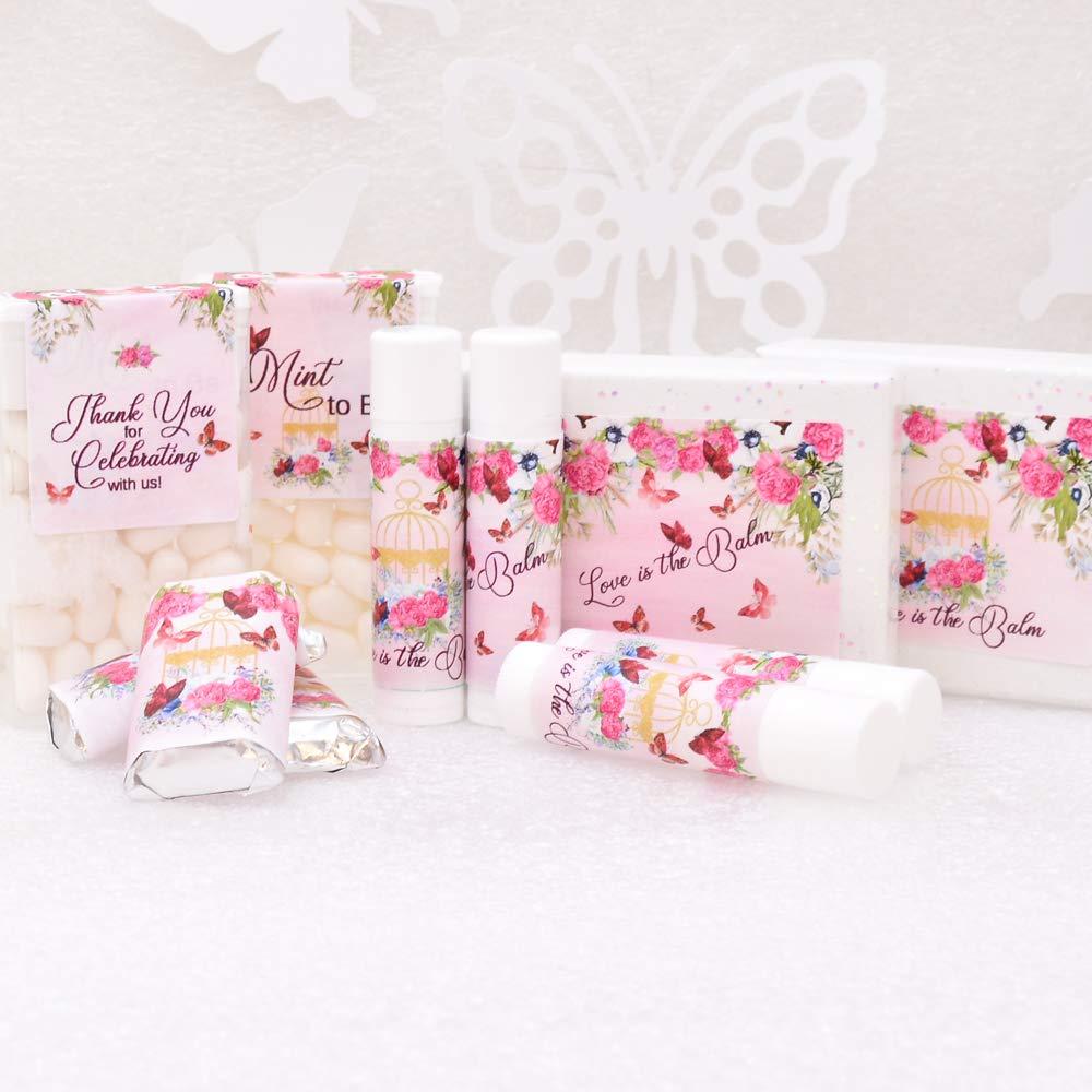 Amazon.com: Set of 108 Wedding Labels Kit, Fuchsia Favor Labels Kit ...
