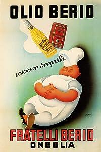 Chef Cook Dream Olio Oil Berio Fratelli Oneglia Kitchen Food Italy Italia Italian Vintage Poster Repro (12